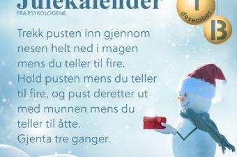 Julekalender fra psykologene